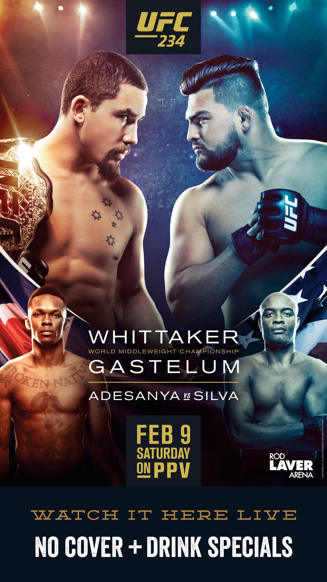 UFC 243- No Cover @ Draft - Be...