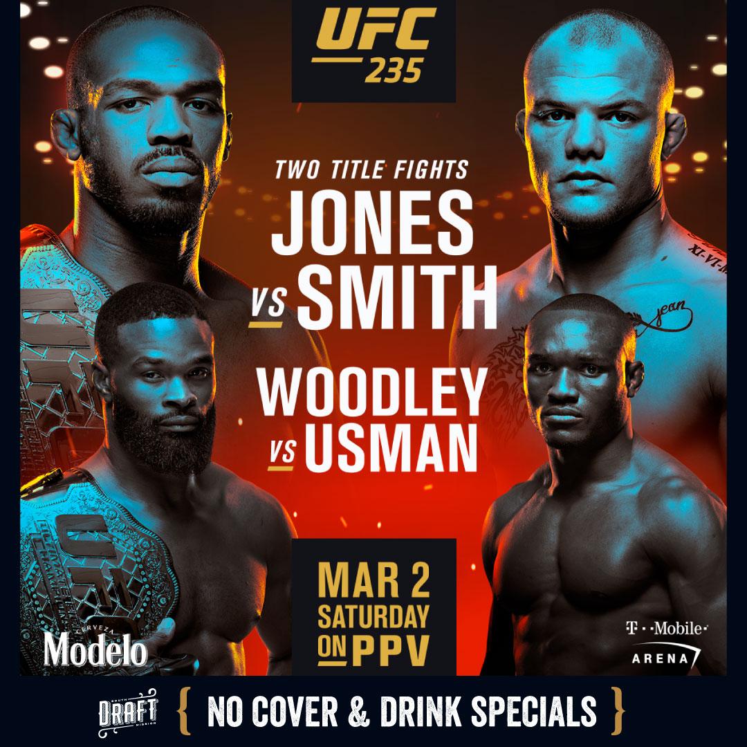 Ufc 235 No Cover Jon Jones V Anthony Smith Woodley V